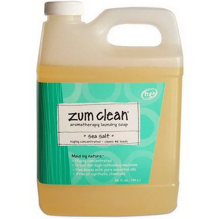 Indigo Wild, Zum Clean, Aromatherapy Laundry Soap, Sea Salt .94 L