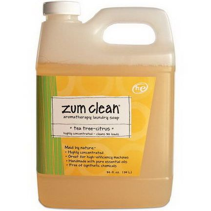 Indigo Wild, Zum Clean, Aromatherapy Laundry Soap, Tea Tree-Citrus .94 L