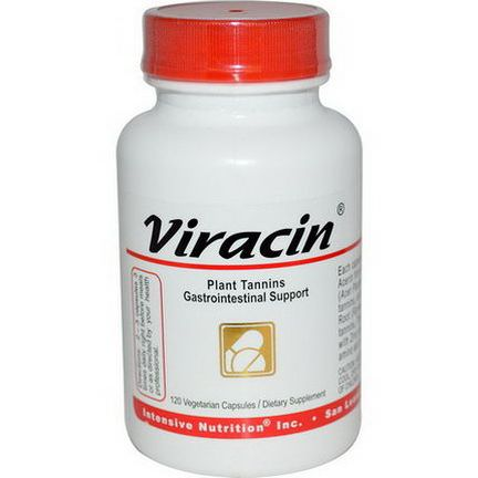 Intensive Nutrition, Viracin, Plant Tannins Gastrointestinal Support, 120 Veggie Caps