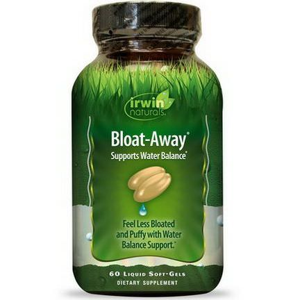 Irwin Naturals, Bloat-Away, 60 Liquid Soft-Gels