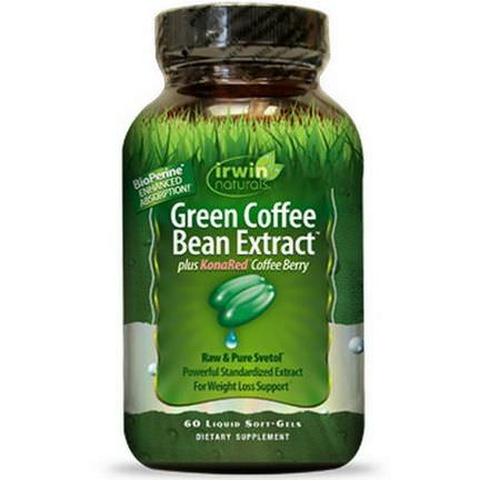 Irwin Naturals, Green Coffee Bean Extract plus KonaRed Coffee Berry, 60 Liquid Soft-Gels