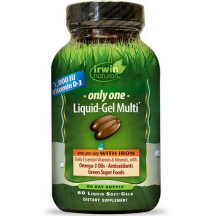 Irwin Naturals, Only One, Liquid-Gel Multi, With Iron, 60 Liquid Soft-Gels