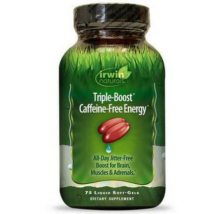 Irwin Naturals, Triple-Boost Caffeine-Free Energy, 75 Liquid Soft-Gels