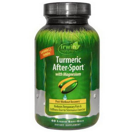 Irwin Naturals, Turmeric After-Sport, With Magnesium, 60 Liquid Soft-Gels