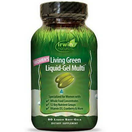 Irwin Naturals, Women's Living Green Liquid-Gel Multi, 90 Liquid Soft-Gels