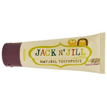 Jack n'Jill, Natural Toothpaste, with Certified Organic Blackcurrant 50g