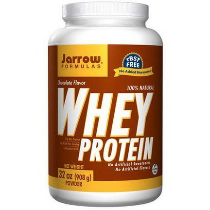 Jarrow Formulas, 100% Natural Whey Protein, Chocolate 908g Powder