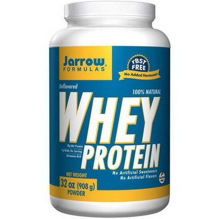 Jarrow Formulas, 100% Natural Whey Protein, Unflavored 908g
