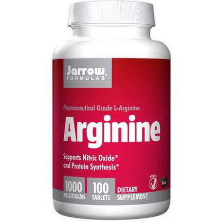 Jarrow Formulas, Arginine, 1000mg, 100 Tablets