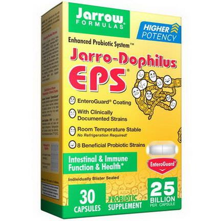 Jarrow Formulas, Jarro-Dophilus EPS, Enhanced Probiotic System, 30 Veggie Caps
