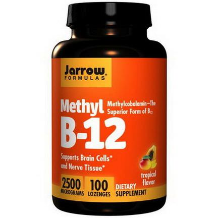 Jarrow Formulas, Methyl B-12, Tropical Flavor, 2500mcg, 100 Lozenges