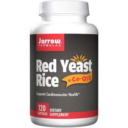 Jarrow Formulas, Red Yeast Rice Co-Q10, 120 Capsules
