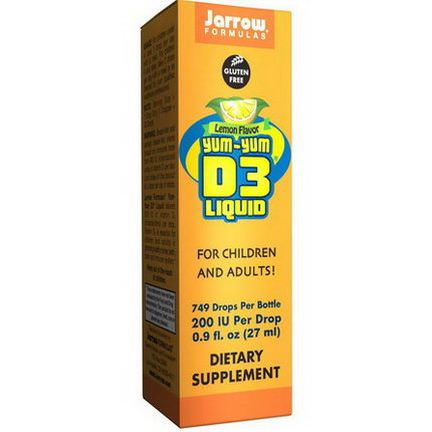 Jarrow Formulas, Yum-Yum D3 Liquid, Lemon Flavor 27ml
