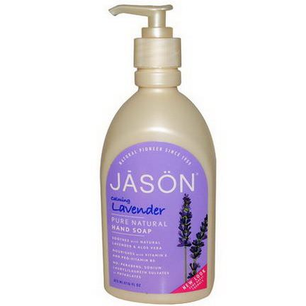 Jason Natural, Hand Soap, Calming Lavender 473ml