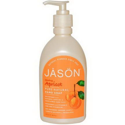 Jason Natural, Hand Soap, Glowing Apricot 473ml