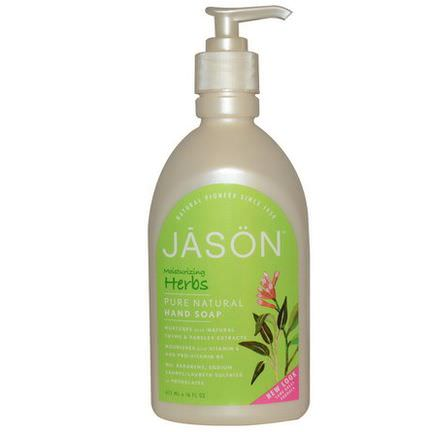 Jason Natural, Hand Soap, Moisturizing Herbs 473ml