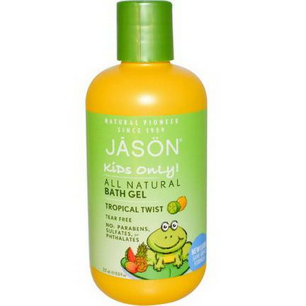 Jason Natural, Kids Only! All Natural Bath Gel, Tropical Twist 237ml
