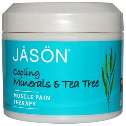 Jason Natural, Muscle Pain Therapy, Cooling Minerals&Tea Tree 113g