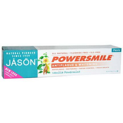 Jason Natural, Powersmile, Antiplaque&Whitening Toothpaste 170g