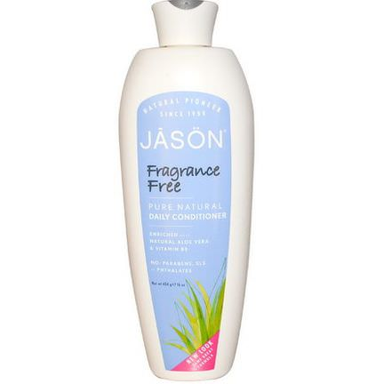 Jason Natural, Pure Natural Daily Conditioner, Fragrance Free 454g