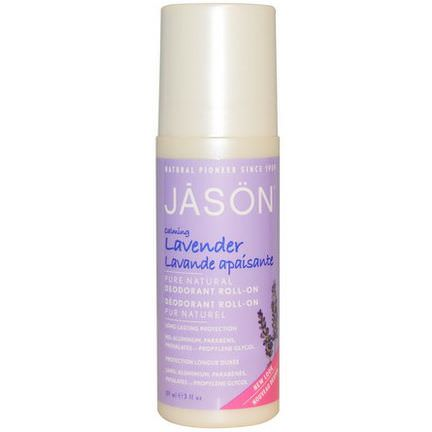 Jason Natural, Pure Natural Deodorant Roll-On, Calming Lavender 89ml