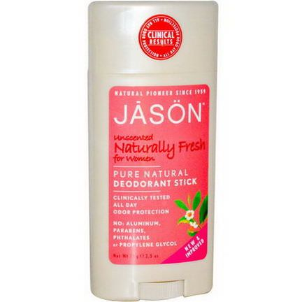 Jason Natural, Pure Natural Deodorant Stick for Women, Unscented 71g