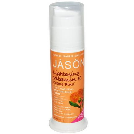 Jason Natural, Pure Natural Moisturizing Creme, Lightening Vitamin K Creme Plus 57g