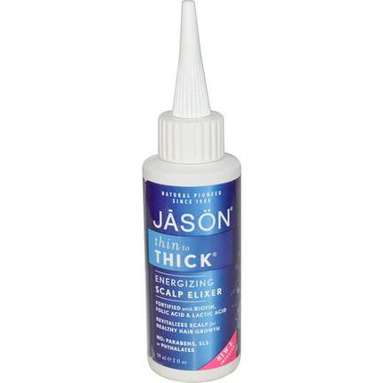 Jason Natural, Thin To Thick, Energizing Scalp Elixer 59ml
