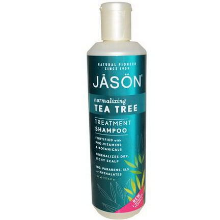 Jason Natural, Treatment Shampoo, Normalizing Tea Tree 517ml