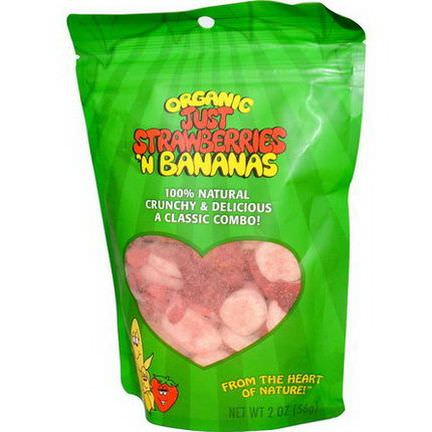 Just Tomatoes Etc, Organic Just Strawberries'n Bananas 56g