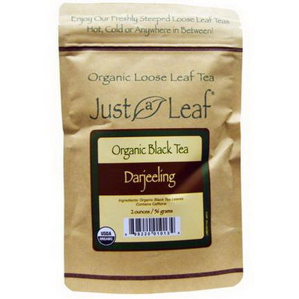 Just a Leaf Organic Tea, Black Tea, Darjeeling 56g
