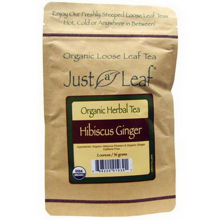 Just a Leaf Organic Tea, Hibiscus Ginger 56g