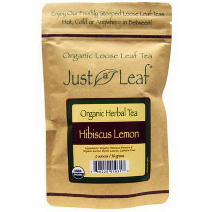 Just a Leaf Organic Tea, Hibiscus Lemon 56g