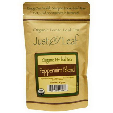 Just a Leaf Organic Tea, Peppermint Blend Loose Leaf Tea 56g