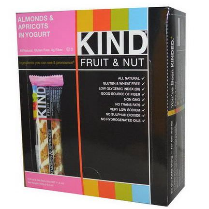KIND Bars, KIND Fruit&Nut Bars, Almonds&Apricots in Yogurt, 12 Bars 45g Each