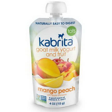 Kabrita, Goat Milk Yogurt and Fruit, Mango Peach with Apple and Pear 113g