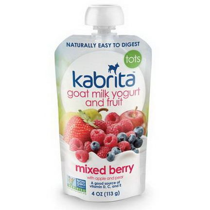 Kabrita, Goat Milk Yogurt and Fruit, Mixed Berry with Apple and Pear 113g