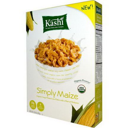 Kashi, Organic, Simply Maize, Crispy Whole Corn Flakes 297g
