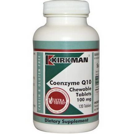 Kirkman Labs, Coenzyme Q10, 100mg, 120 Chewable Tablets