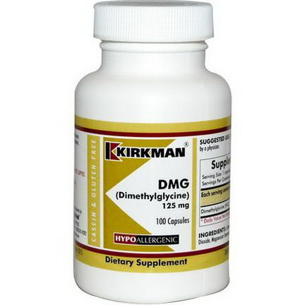 Kirkman Labs Dimethylglycine, 125mg, 100 Capsules