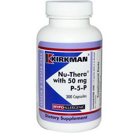 Kirkman Labs, Nu-Thera with 50mg P-5-P, 300 Capsules