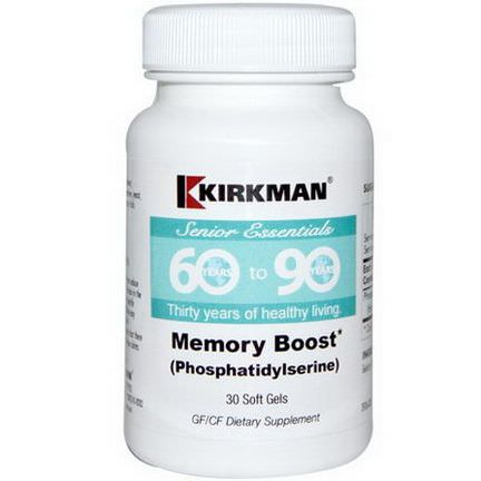 Kirkman Labs, Senior Essentials 60 to 90 Years Phosphatidylserine, 30 Soft Gels