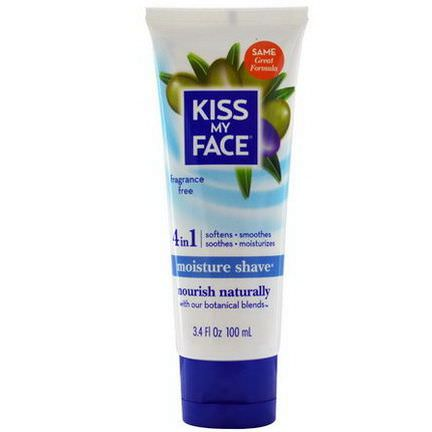 Kiss My Face, 4 in 1 Moisture Shave, Fragrance Free 100ml