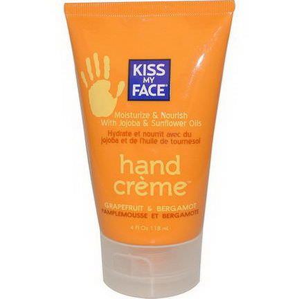 Kiss My Face, Hand Creme, Grapefruit&Bergamot 118ml