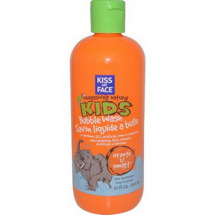 Kiss My Face, Obsessively Natural Kids, Bubble Wash, Orange U Smart 354ml