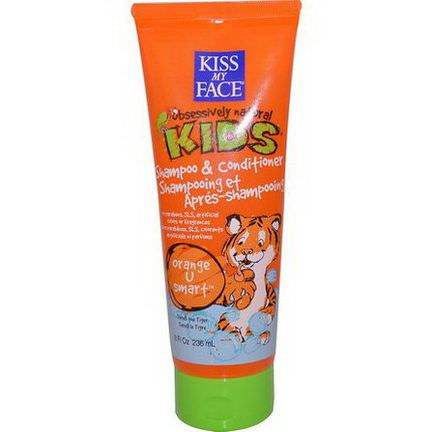 Kiss My Face, Obsessively Natural Kids, Shampoo&Conditioner, Orange U Smart 236ml