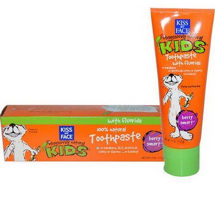 Kiss My Face, Obsessively Natural Kids, Toothpaste with Fluoride, Berry Smart 113g