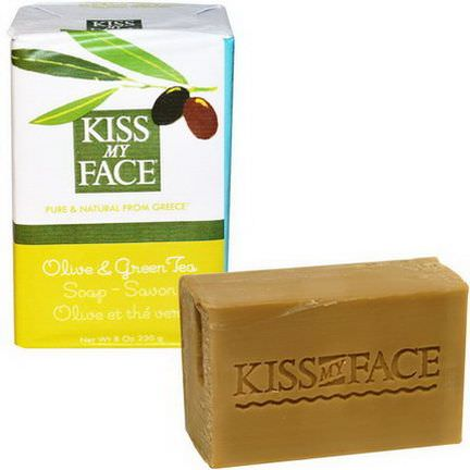 Kiss My Face, Olive&Green Tea Soap Bar 230g