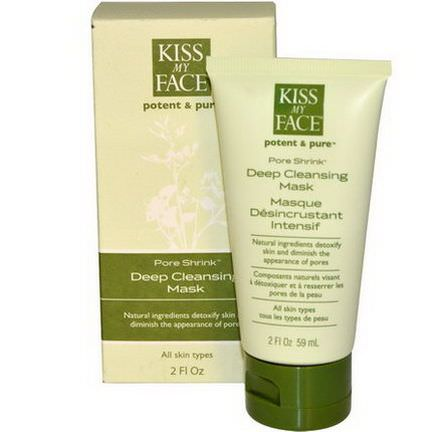 Kiss My Face, Potent&Pure, Pore Shrink, Deep Cleansing Mask 59ml