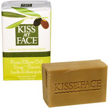 Kiss My Face, Pure Olive Oil Soap Bar, Fragrance Free 115g